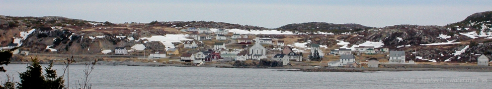 view of the other side of Twillingate across the bay